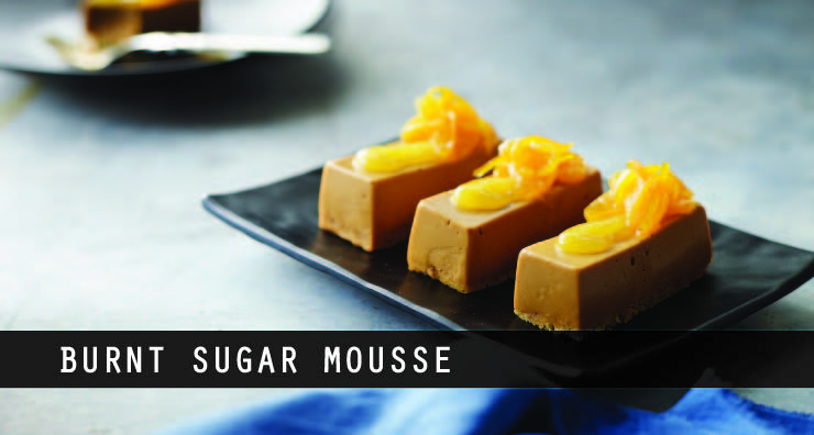 burnt sugar mousse with candied mandarin