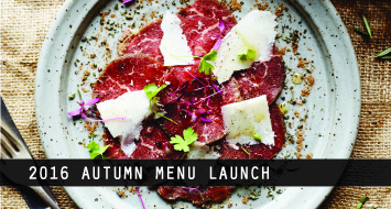 2016 Autumn Menu Launch